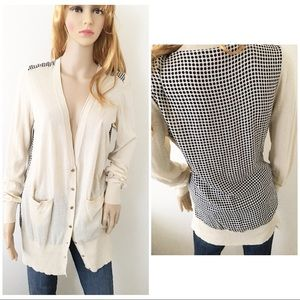 Tory Burch silk long cardigan sweater